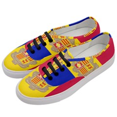 National Flag Of Andorra  Women s Classic Low Top Sneakers by abbeyz71