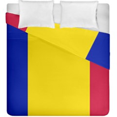 Civil Flag Of Andorra Duvet Cover Double Side (king Size) by abbeyz71