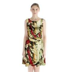 Ireland #1 Sleeveless Waist Tie Chiffon Dress