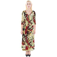 Ireland #1 Quarter Sleeve Wrap Maxi Dress