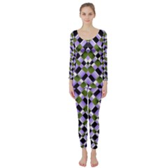 Hypnotic Geometric Pattern Long Sleeve Catsuit by dflcprints