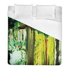 Old Tree And House With An Arch 8 Duvet Cover (full/ Double Size) by bestdesignintheworld