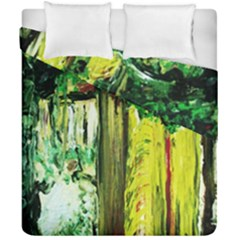 Old Tree And House With An Arch 8 Duvet Cover Double Side (california King Size) by bestdesignintheworld