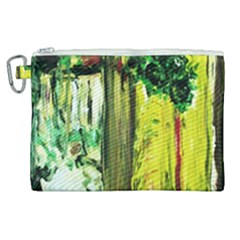 Old Tree And House With An Arch 8 Canvas Cosmetic Bag (xl) by bestdesignintheworld