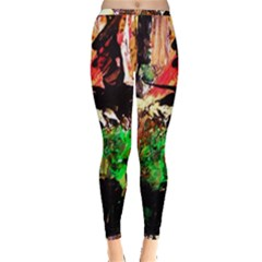 Old Tree And House With An Arch 7 Inside Out Leggings by bestdesignintheworld
