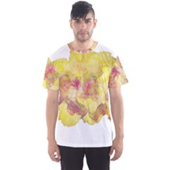 Yellow Rose Men s Sports Mesh Tee by aumaraspiritart
