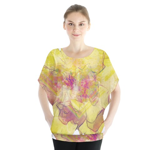 Yellow Rose Blouse by aumaraspiritart