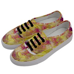 Yellow Rose Men s Classic Low Top Sneakers by aumaraspiritart