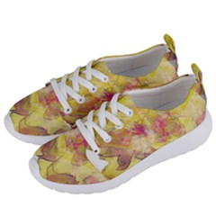Yellow Rose Women s Lightweight Sports Shoes by aumaraspiritart