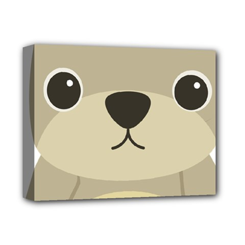 Animal Bear Cartoon Children Kids Deluxe Canvas 14  X 11  by Simbadda