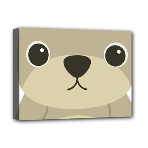 Animal Bear Cartoon Children Kids Deluxe Canvas 16  X 12   by Simbadda