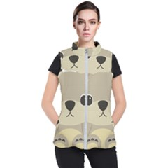 Animal Bear Cartoon Children Kids Women s Puffer Vest