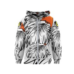 Animal Bird Cartoon Comic Eagle Kids  Zipper Hoodie