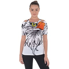 Animal Bird Cartoon Comic Eagle Short Sleeve Top