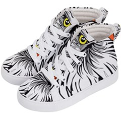 Animal Bird Cartoon Comic Eagle Kid s Hi Top Skate Sneakers by Simbadda