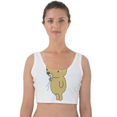 Cute Bear Cartoon Velvet Crop Top
