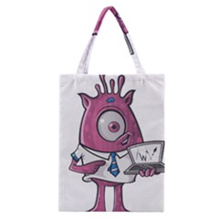 Business Education Logo Monster Classic Tote Bag