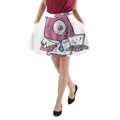Business Education Logo Monster A Line Pocket Skirt by Simbadda