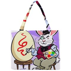 Bunny Easter Artist Spring Cartoon Mini Tote Bag