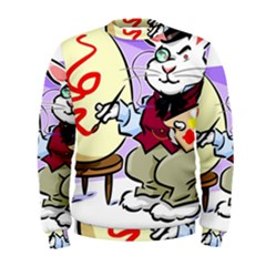 Bunny Easter Artist Spring Cartoon Men s Sweatshirt