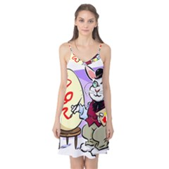 Bunny Easter Artist Spring Cartoon Camis Nightgown