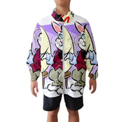 Bunny Easter Artist Spring Cartoon Wind Breaker (kids)