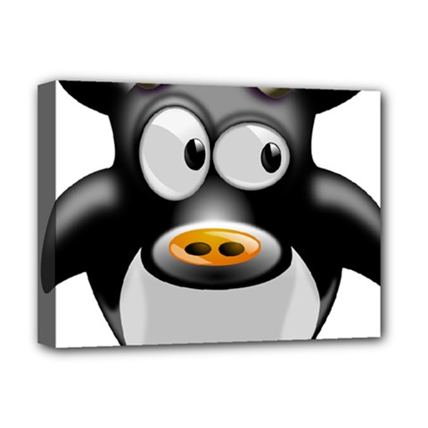 Cow Animal Mammal Cute Tux Deluxe Canvas 16  X 12