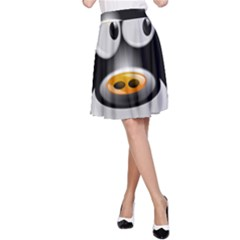 Cow Animal Mammal Cute Tux A Line Skirt
