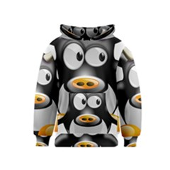 Cow Animal Mammal Cute Tux Kids  Pullover Hoodie
