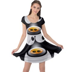 Cow Animal Mammal Cute Tux Cap Sleeve Dress