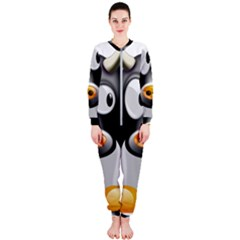 Cow Animal Mammal Cute Tux Onepiece Jumpsuit (ladies)
