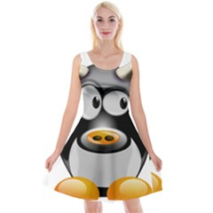 Cow Animal Mammal Cute Tux Reversible Velvet Sleeveless Dress