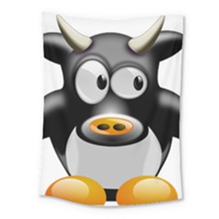 Cow Animal Mammal Cute Tux Medium Tapestry