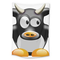 Cow Animal Mammal Cute Tux Large Tapestry