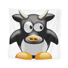 Cow Animal Mammal Cute Tux Square Tapestry (small)