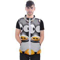 Cow Animal Mammal Cute Tux Men s Puffer Vest by Simbadda