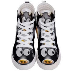Cow Animal Mammal Cute Tux Women s Hi Top Skate Sneakers