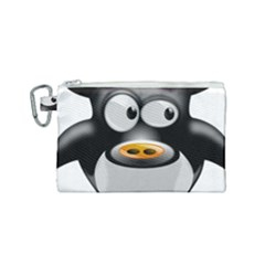 Cow Animal Mammal Cute Tux Canvas Cosmetic Bag (small)