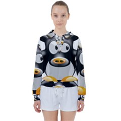 Cow Animal Mammal Cute Tux Women s Tie Up Sweat