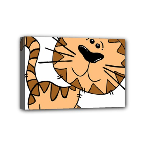 Cats Kittens Animal Cartoon Moving Mini Canvas 6  X 4