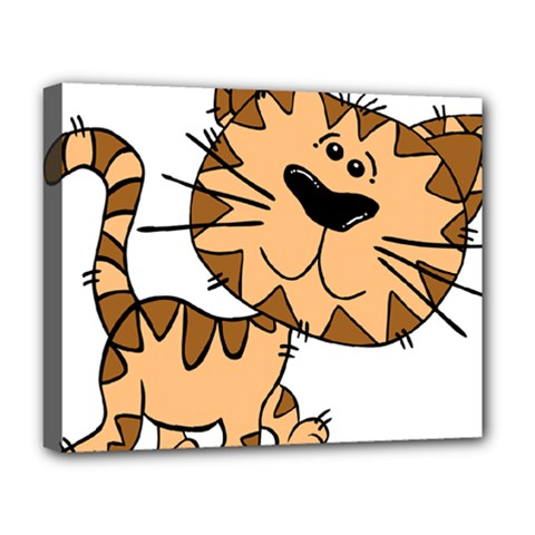 Cats Kittens Animal Cartoon Moving Deluxe Canvas 20  X 16