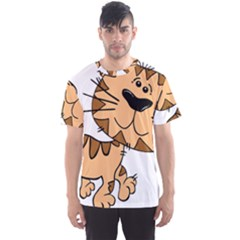Cats Kittens Animal Cartoon Moving Men s Sports Mesh Tee