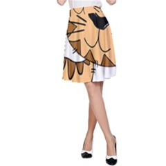 Cats Kittens Animal Cartoon Moving A Line Skirt