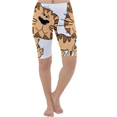 Cats Kittens Animal Cartoon Moving Cropped Leggings