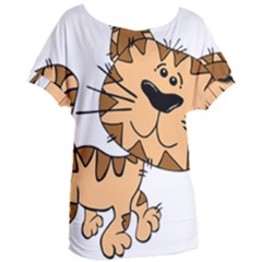 Cats Kittens Animal Cartoon Moving Women s Oversized Tee