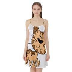 Cats Kittens Animal Cartoon Moving Satin Night Slip