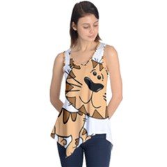 Cats Kittens Animal Cartoon Moving Sleeveless Tunic