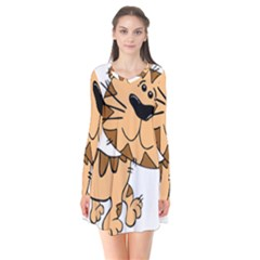 Cats Kittens Animal Cartoon Moving Flare Dress