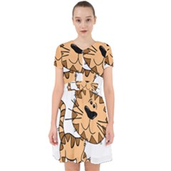 Cats Kittens Animal Cartoon Moving Adorable In Chiffon Dress