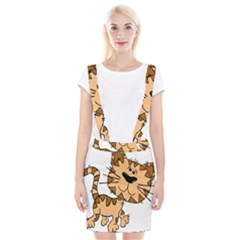 Cats Kittens Animal Cartoon Moving Braces Suspender Skirt